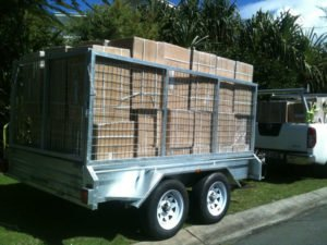 10 x 6 ft box trailer with cage