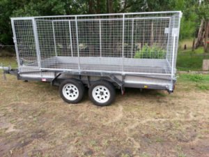 12 x 6 ft box Trailer with Cage