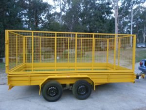 14 x 6 ft Box Trailer with Cage