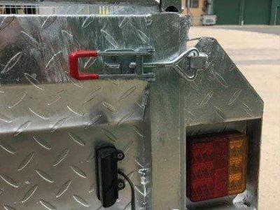 10x5 ft tandem box trailer