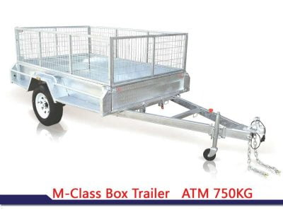 7x4 ft box trailer
