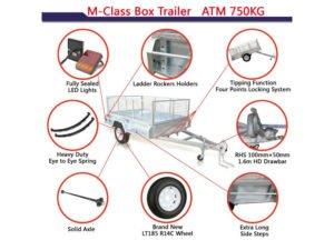 7x4 ft box trailer
