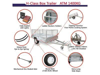 7x5 ft box trailer