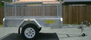 8 X 5 Box Trailer Welded Checkerplate