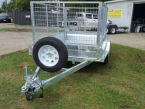 8x5 feet box trailer heavy duty