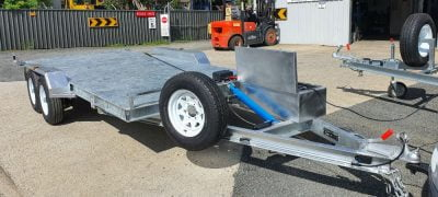 16.6 x 6.6 ft Tandem Hydraulic Tilt Car/Bobcat/Loader Trailer ATM 3500kg