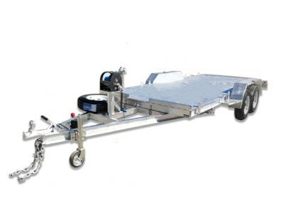 Tandem Car Trailer with Ramps and Winch ATM 2000kg