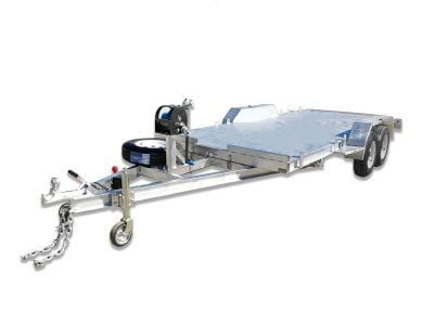 Tandem Car Trailer with Ramps and Winch ATM 3500kg