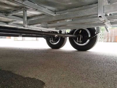 Car Trailer with Ramps and Winch