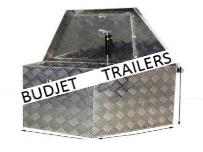 Aluminium Tool Bo Draw-bar Angled