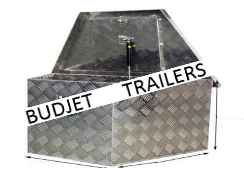 Aluminium Tool Box Draw Bar Angled Budjet Trailer Hire