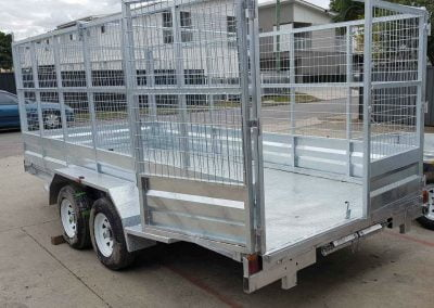 Tandem Tilt Car Trailer 2.9t - back door open