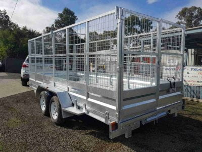 Tandem Tilt Car Trailer 2.9t - back and side