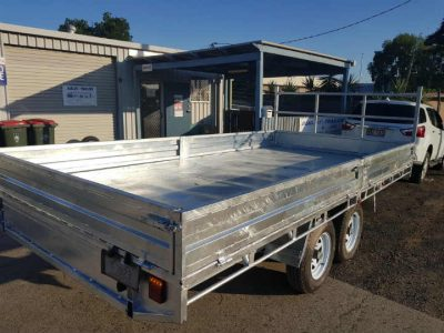 Tandem Flat Deck Trailer with Loading Ramps ATM 3500kg