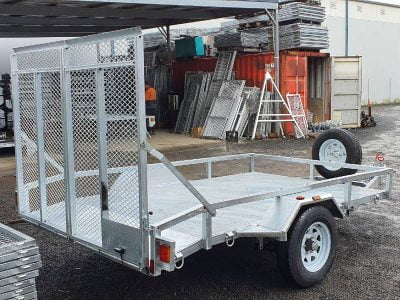 10 x 6 ft Heavy Duty Mower Trailer with Dual Ramp ATM 1900kg