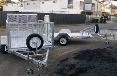 8 x 5 ft ATV and Caged Trailer ATM 750kg